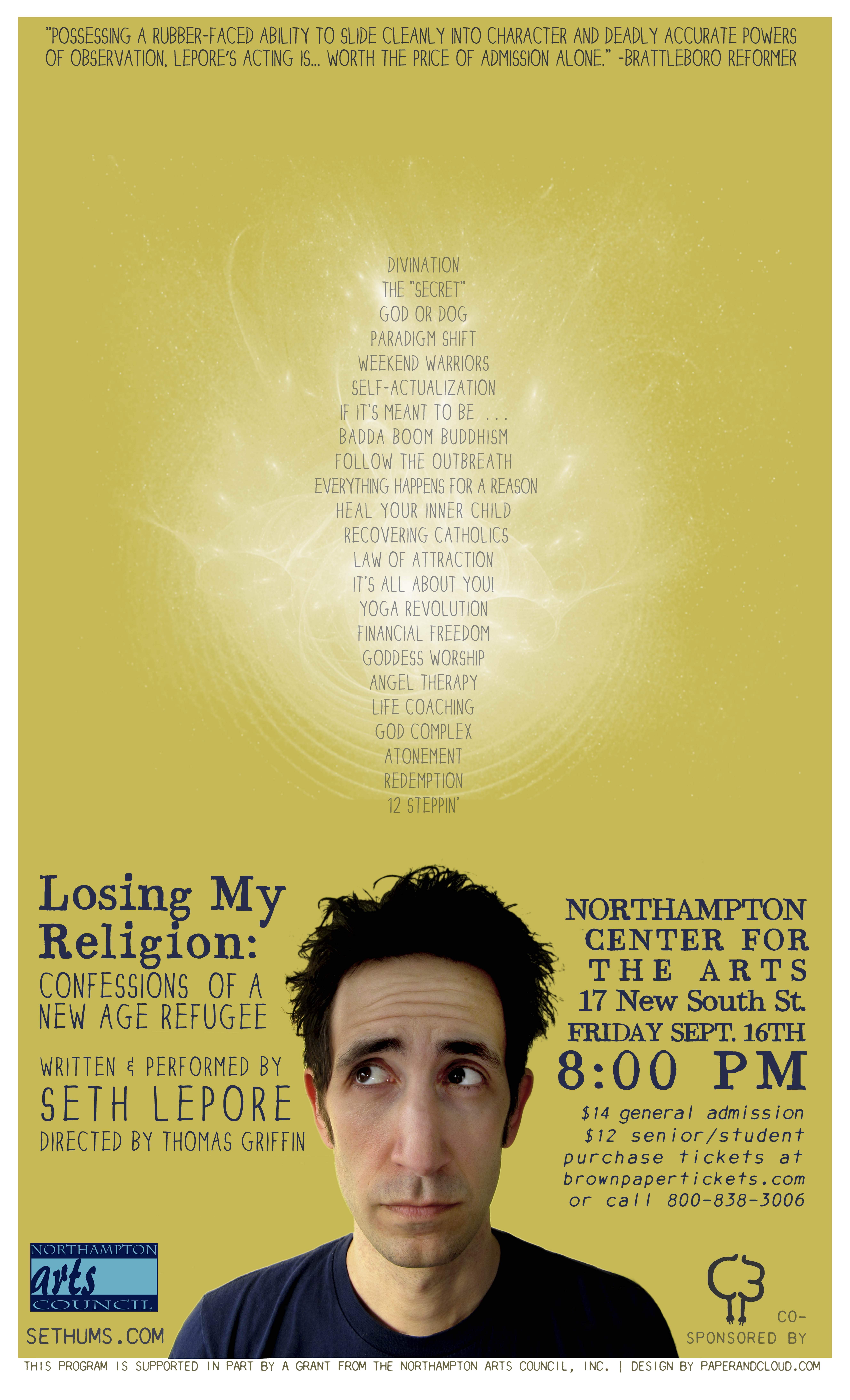 Losing My Religion at Noho Center for the Arts